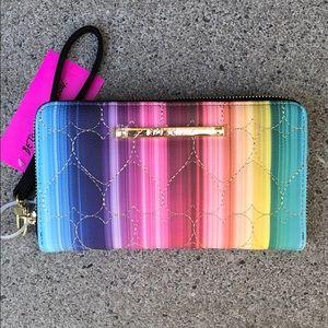 Wristlet Wallet BetseyJohnson Rainbow Quilting NWT